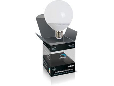 Лампа Gauss LED G95 E27 14W 4100K FROST