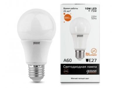 Лампа Gauss Elementary LED A60 E27 10W 2700K 1/40