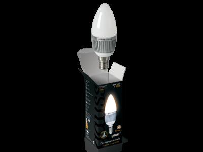 Лампа Gauss LED Свеча радиатор 6Вт E14 2700K