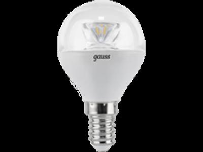 Лампа Gauss LED Globe Crystal Clear E14 4W 4100K 1/10/50