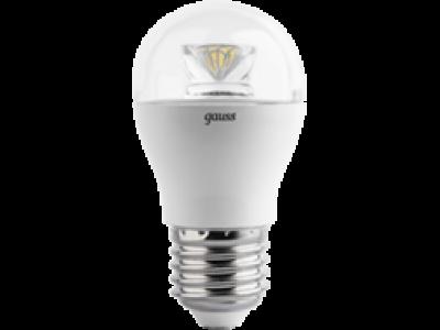 Лампа Gauss LED Globe Crystal Clear E27 6W 4100K