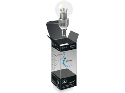 Лампа Gauss LED шар прозрачный 5W E14 4100K