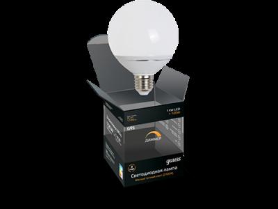 Лампа G95 E27 14W 2700K FROST