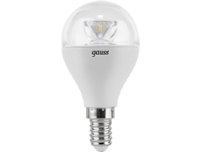 Лампа Gauss LED Globe Crystal Clear E14 6W 4100K