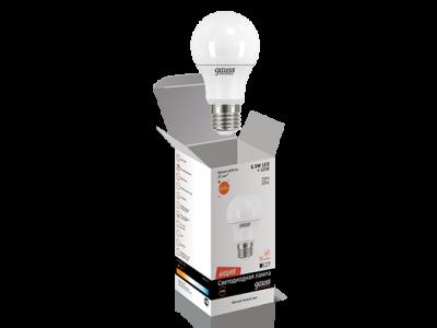 Лампа Gauss LED Elementary Globe 6.5W A60 E27 2700K 1/10/50